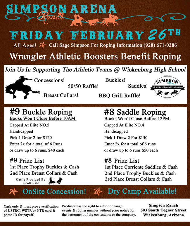 Benefit Roping @ Simpson's Arena